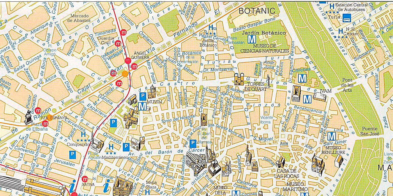 Maps-Valencia-old-town-experiences-and-gateways